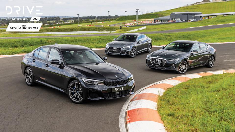Drive Best Medium Luxury Car 2021 finalists group photo