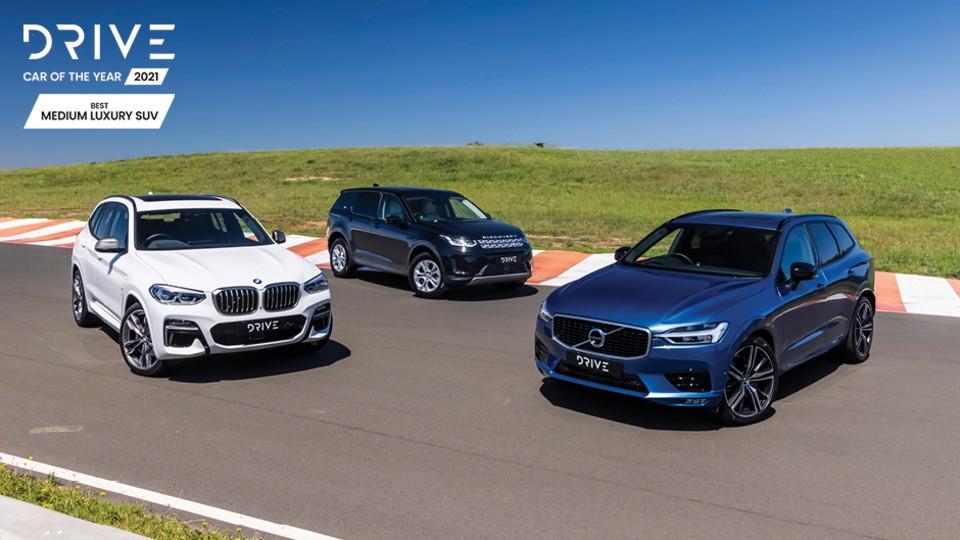 Drive Best Medium Luxury SUV 2021 finalists group photo