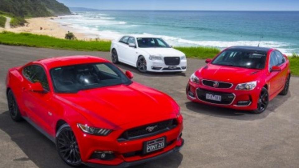 Ford Mustang GT v Holden Commodore SS-V v Chrysler 300 SRT comparison review