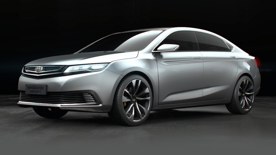 Geely Reveals Upmarket Emgrand Sedan Concept In Shanghai