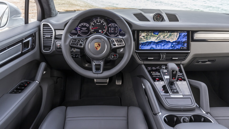 The Cayenne's cabin takes inspiration from the latest Porsche Panamera.
