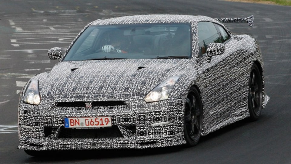 Nissan GT-R Nismo caught during testing at the Nurburgring. Source: Automedia.