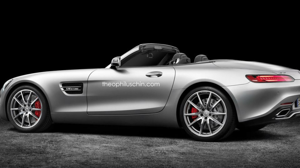 2017 Mercedes-AMG GT Roadster Rendering - Theo Chin