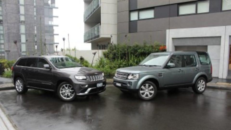 Jeep Grand Cherokee Summit Platinum v Land Rover Discovery 4 SE head to head comparison