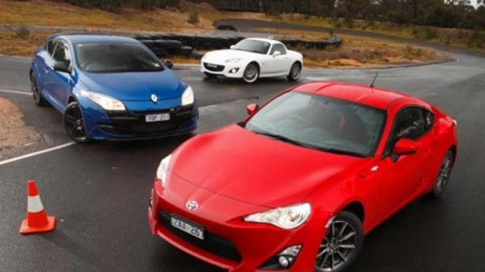 Toyota 86 v Renault Megane RS250 v Mazda MX-5