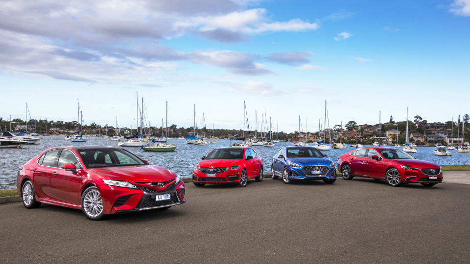 The new Toyota Camry takes on some of its fiercest rivals.