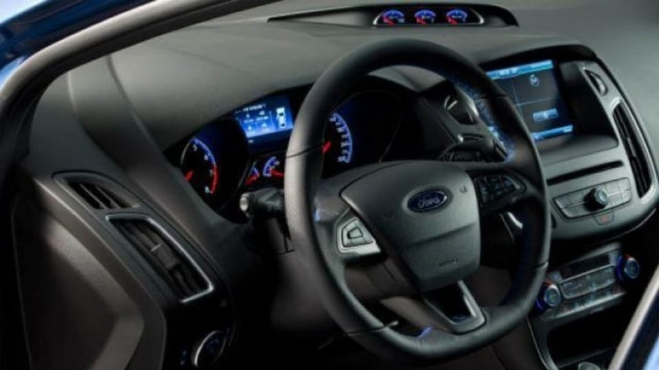 Ford has applied changes to the Focus RS' interior in the updated model.
