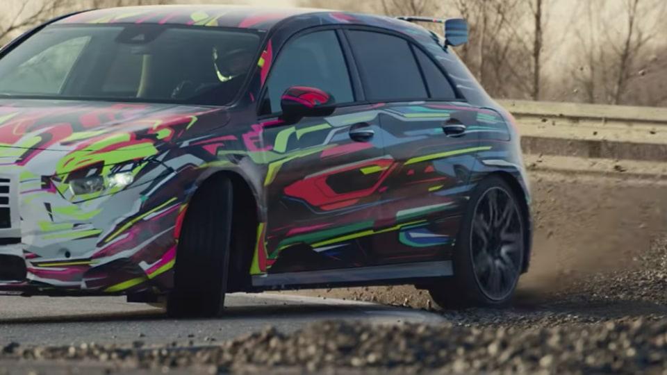 Mercedes-AMG shows-off A45's drift mode