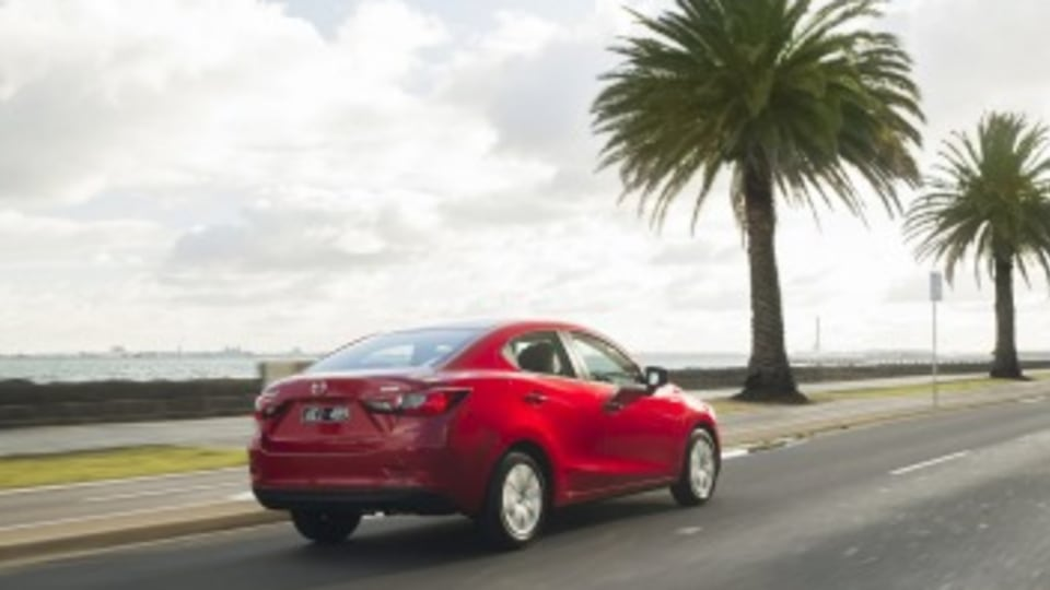 The Mazda2 sedan offers significantly more storage than its hatchback cousin.