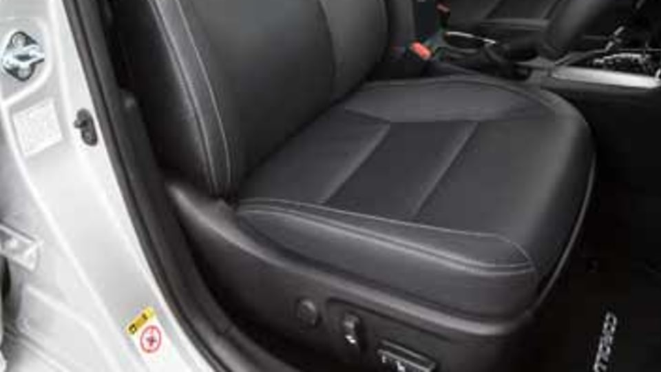 Toyota's 'accented leather' seats only feature some actual leather.