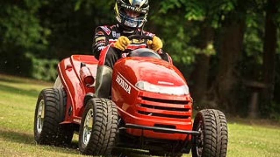 World's fastest lawn mower