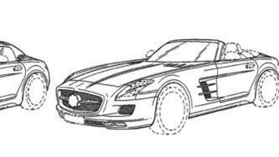 2012 Mercedes-Benz SLS AMG Roadster Revealed In Patent Application