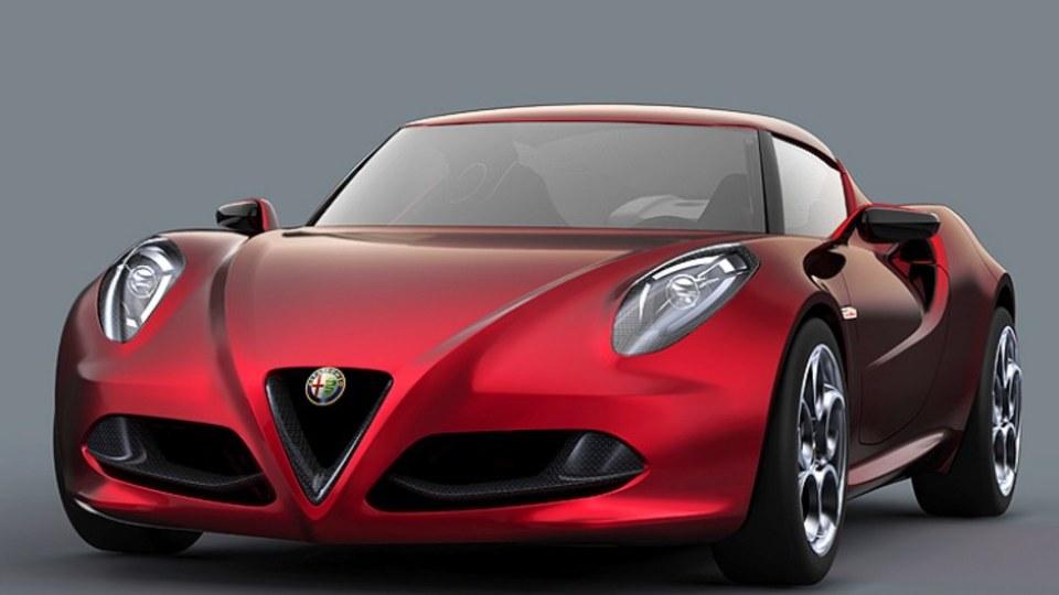 Alfa Romeo has unveiled a compact sports car concept, the 4C.