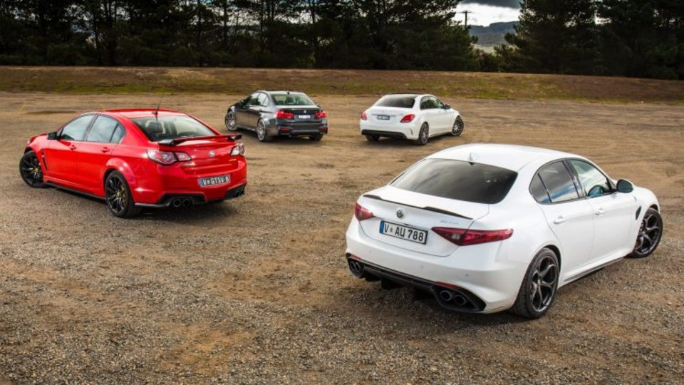 Can the new Alfa Romeo Giulia QV compete with the likes of the Mercedes-AMG C63, BMW M3 and HSV GTS.