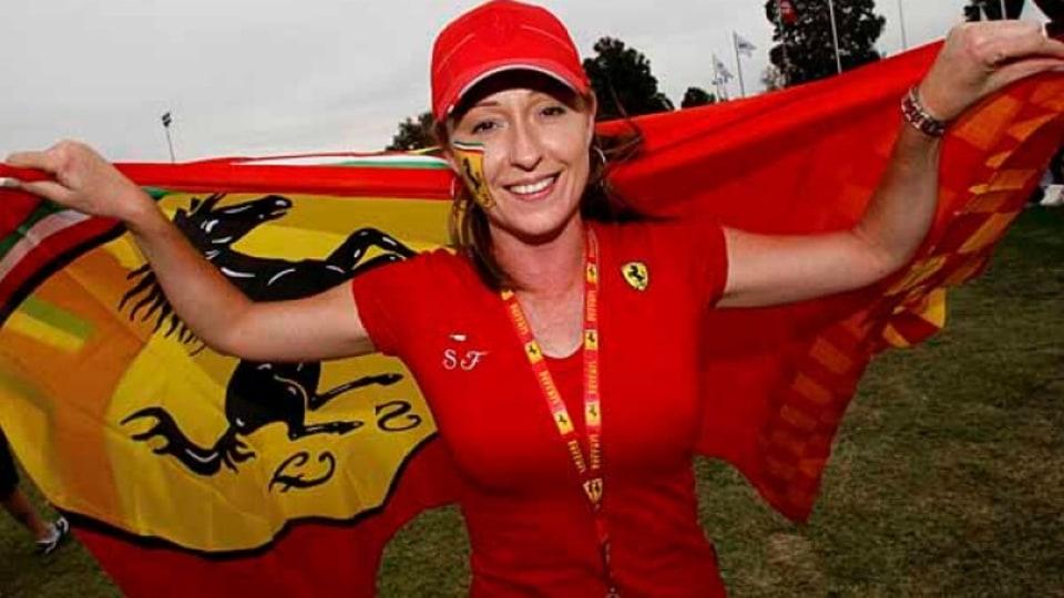 Ferrari fan Sue Crawford.