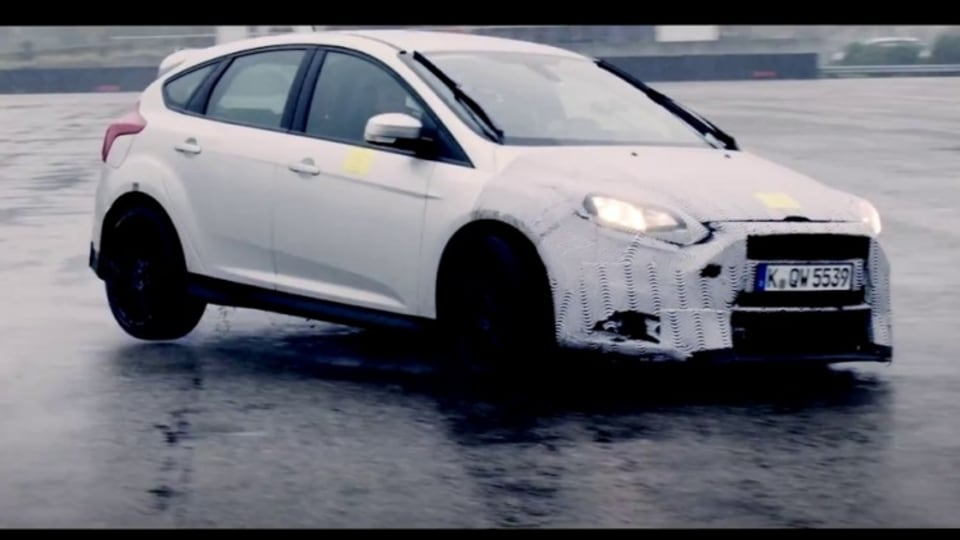 The teaser video gives away little about the RS's appearance, thanks to heavy camouflage.