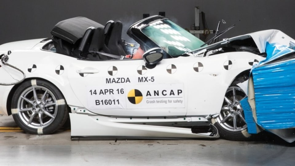 Mazda's MX-5 has earned a five-star safety score.