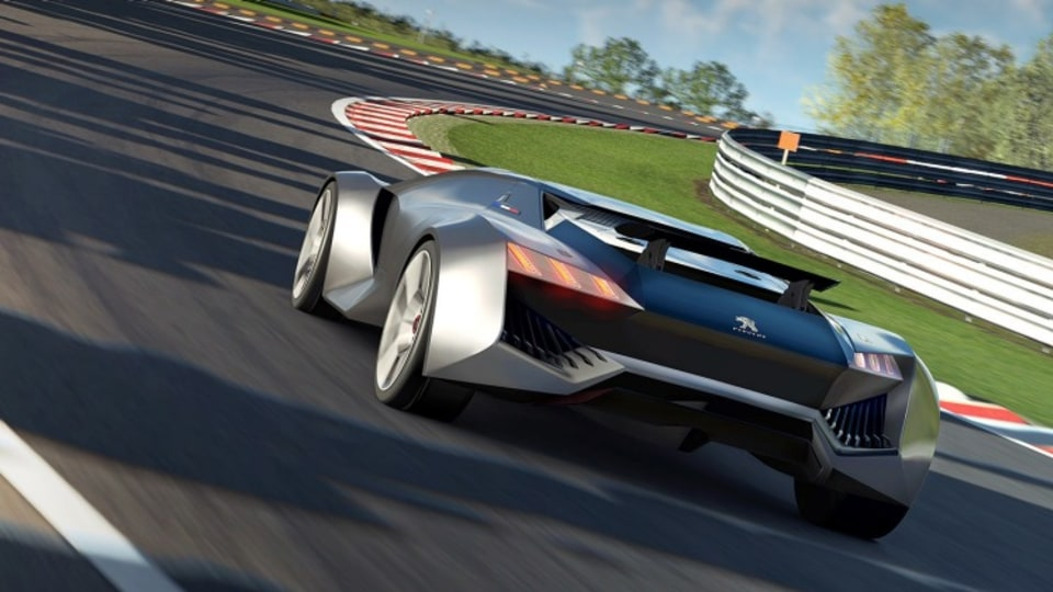 Virtual reality: the Vision concept can sprint from 0-100km/h in 1.73 seconds, says Peugeot.