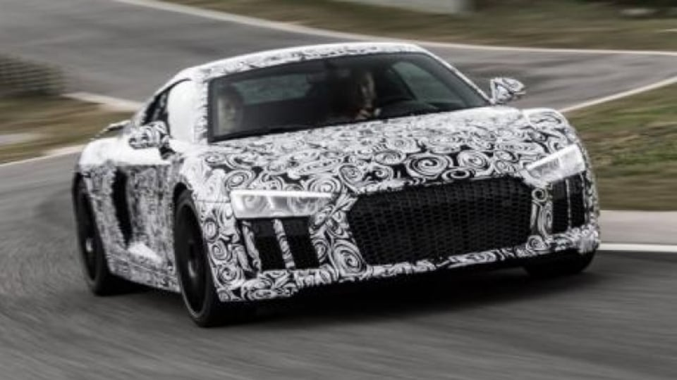 Drive rode shotgun in the new Audi R8 prototype in Spain ahead of the car's official unveiling.