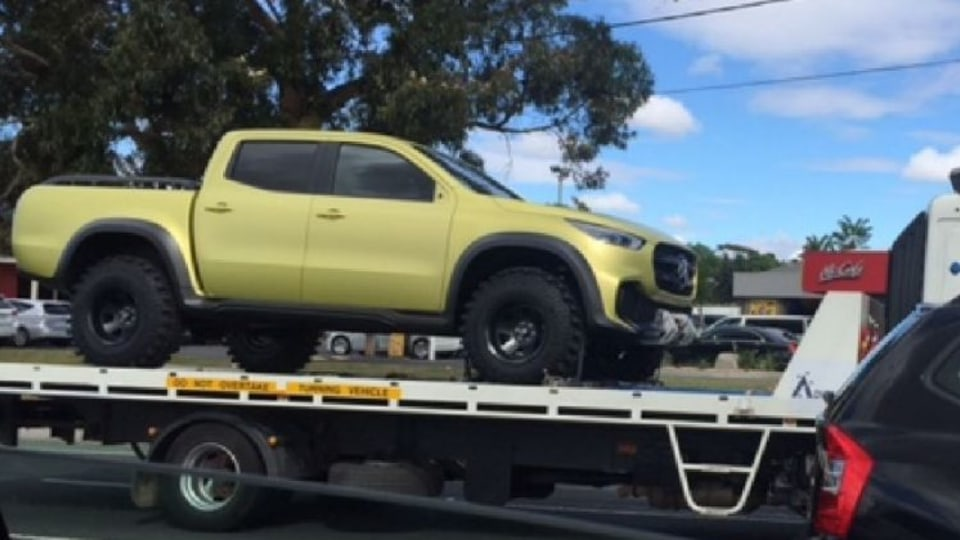 Mercedes-Benz ute spotted in Australia