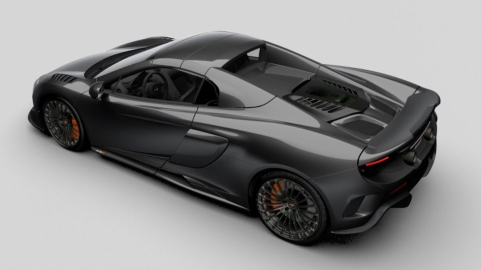 McLaren has added 40 per cent more carbon fibre to its MSO Carbon Series LT compared to the stock 675LT Spider.
