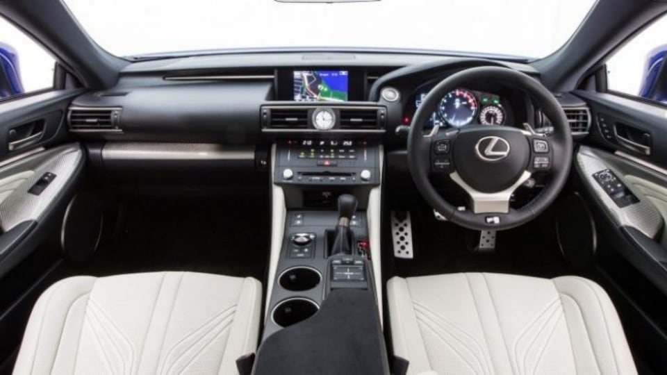 The Lexus RC F interior.