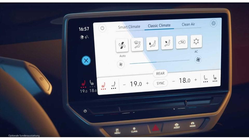 Volkswagen ID.3 dashboard revealed