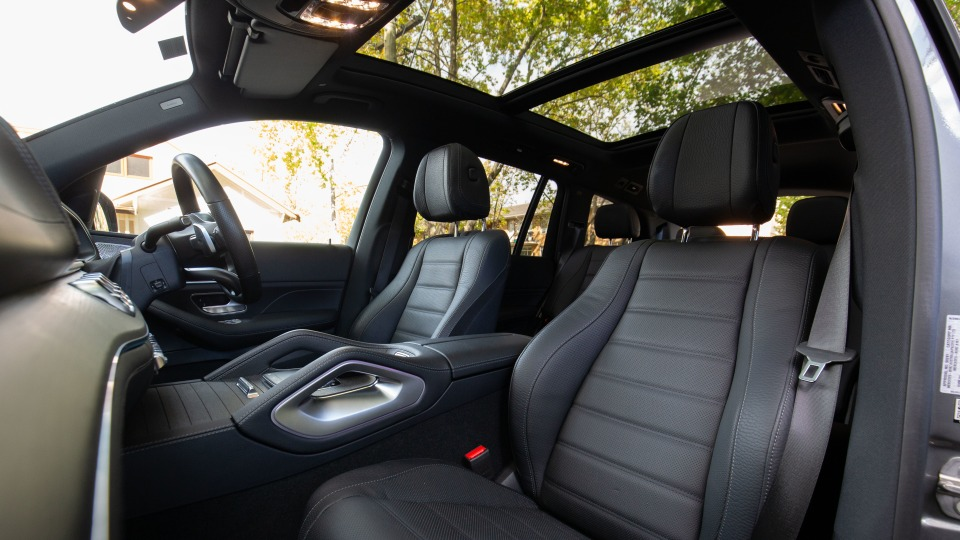 Drive Car of the Year Best Upper Large Luxury SUV 2021 finalist Mercedes-Benz GLS-Class front seating interior