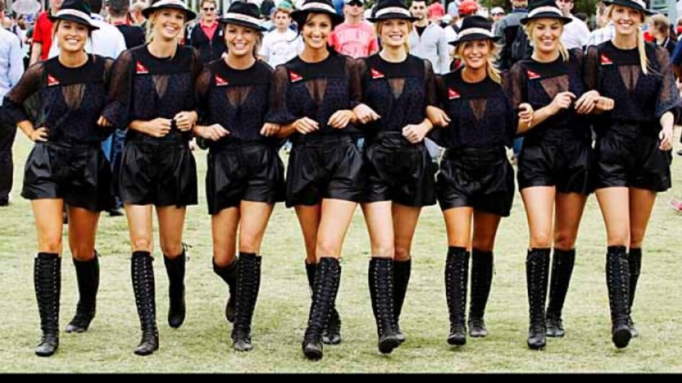 The grid girls, decked out in Kit Willow-designed outfits provided a distraction from the noise away from the track.