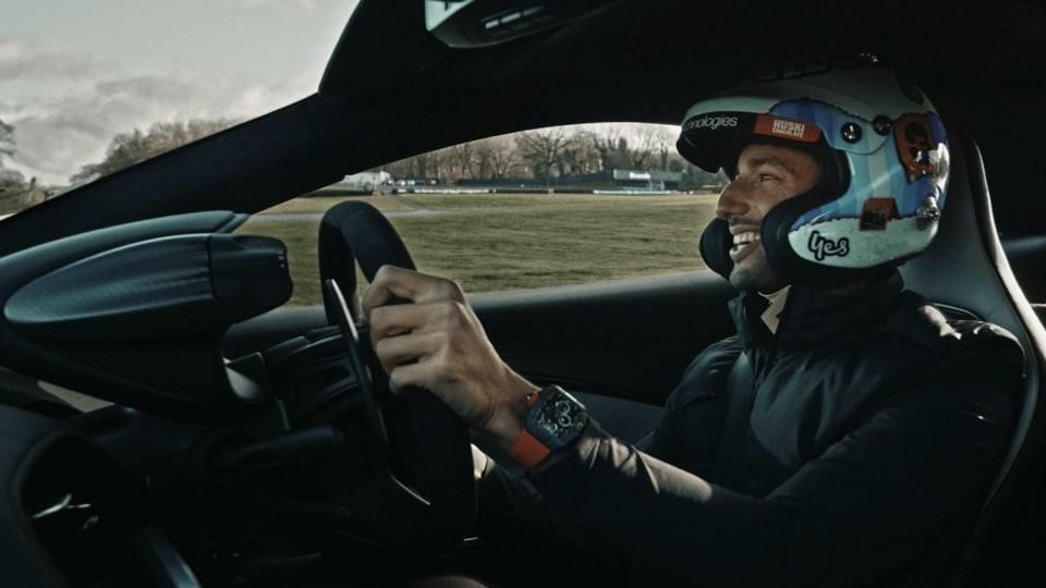 2021 McLaren Artura driven by Aussie F1 ace Daniel Ricciardo