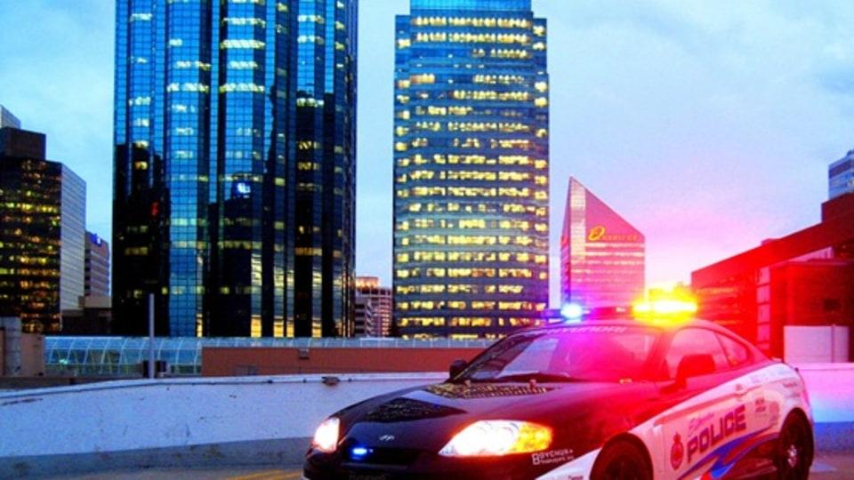 Photo Of The Day: Hyundai Tiburon Police Car