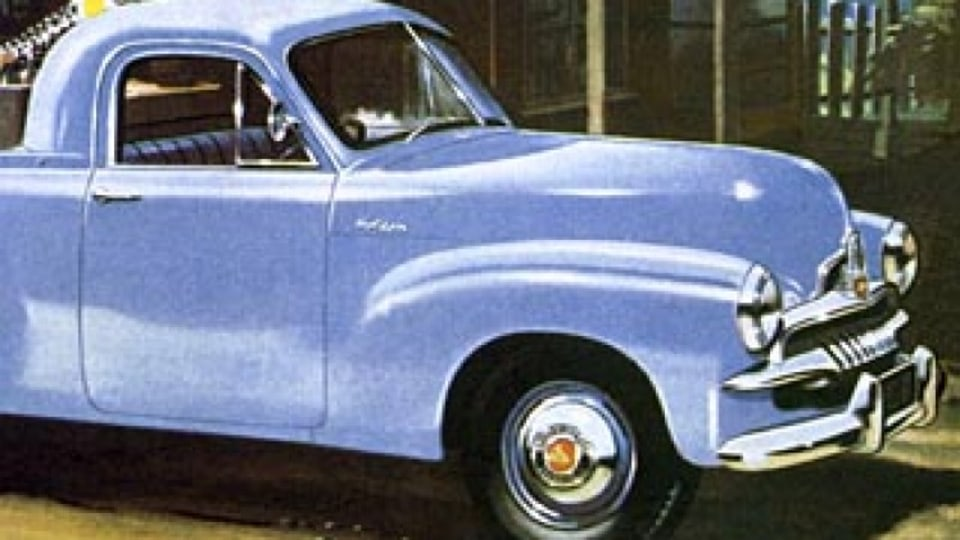 A pioneer of the great southern land ... promotional material for the ground breaking 1953 FJ Holden,  still considered one of the company?s greatest models.