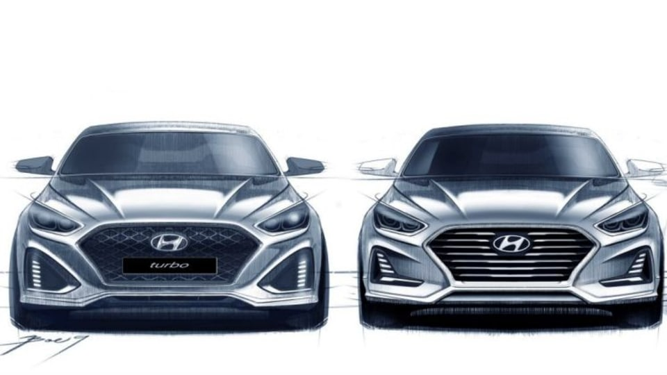 Hyundai Sonata facelift sketch.