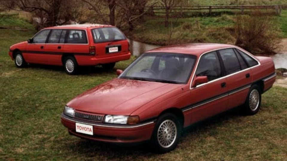 Greeted with derision: The unloved Toyota Lexcen was the love child of a short-lived relationship between the Japanese brand and Holden.