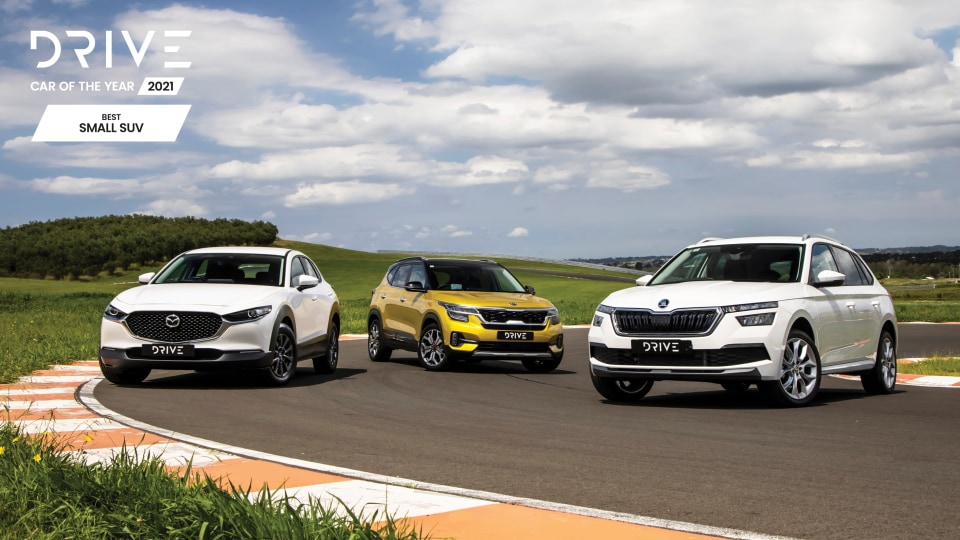 Drive Car of the Year Best Small SUV 2021 finalists group photo