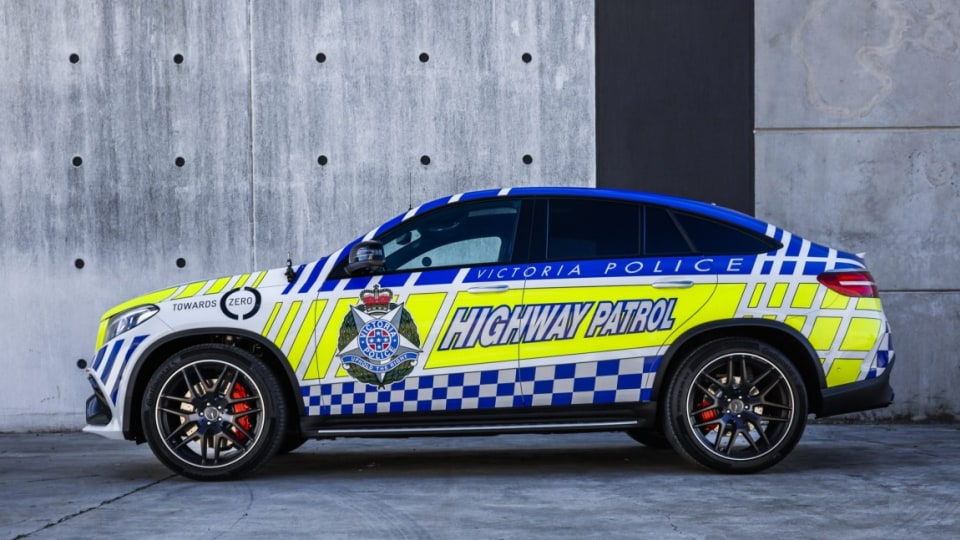 The Mercedes-AMG GLE63 Coupe Victoria Police will use to promote safety.