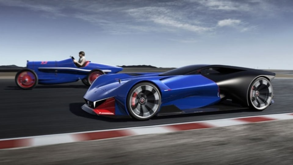Peugeot has paid tribute to its 1916 Indianapolis 500 race win with a futuristic concept.