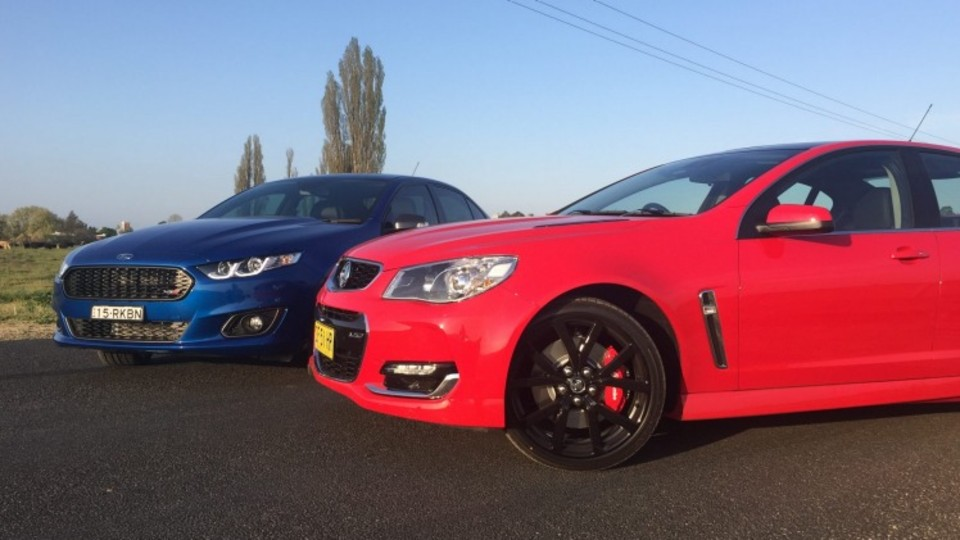 Holden's Commodore SS-V Redline is the most dynamic in this duo.