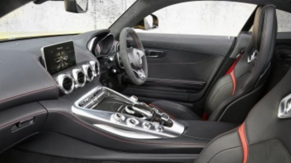 Mercedes-AMG GT S interior.