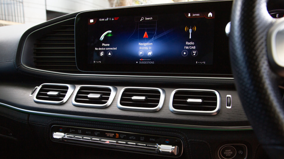Drive Car of the Year Best Upper Large Luxury SUV 2021 finalist Mercedes-Benz GLS-Class infotainment system