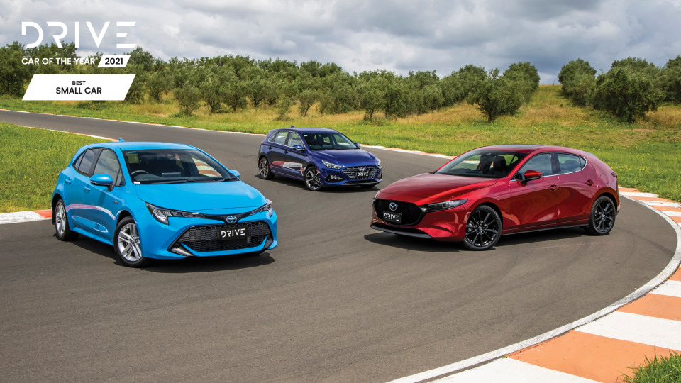 Drive Car of the Year Best Small Car 2021 finalists group photo