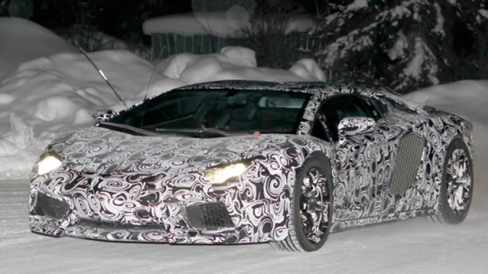 Spy shots of the Lamborghini Murcielago's replacement, which could be named Aventador.