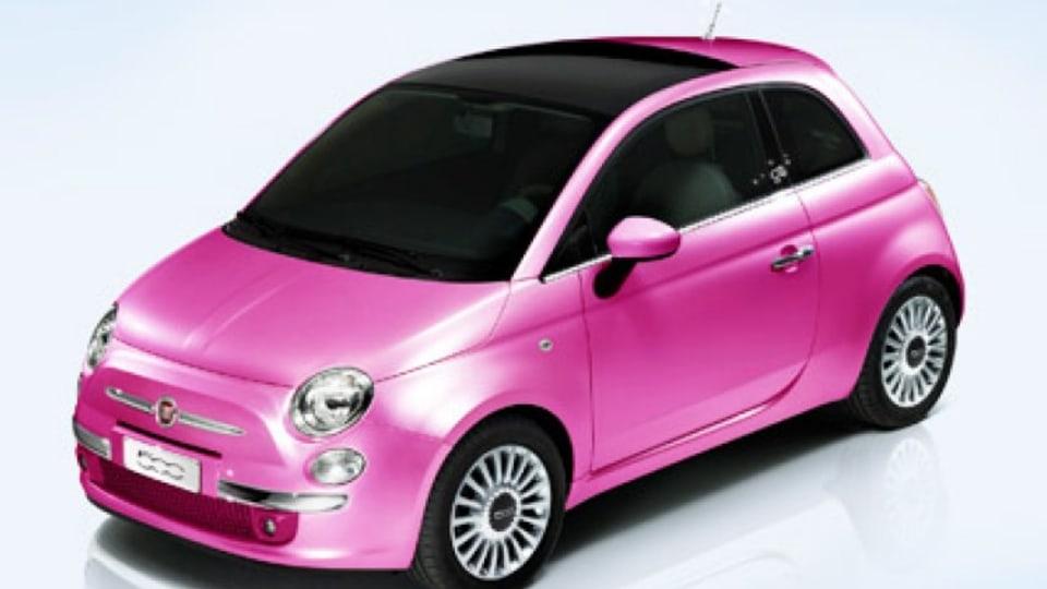 The Fiat 500 celebrates Barbie's 50th birthday