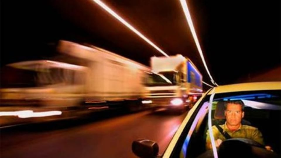 Safety first: Swedish traffic behaviour expert Ruggero Ceci takes on Melbourne's tunnels. Photo: Craig Sillitoe