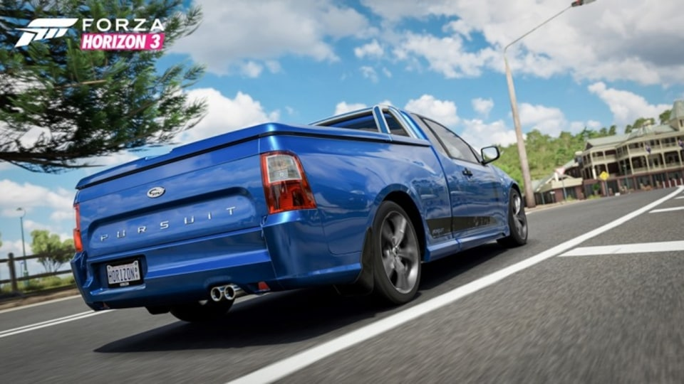 The game features homegrown muscle cars such as the FPV Pursuit Ute.