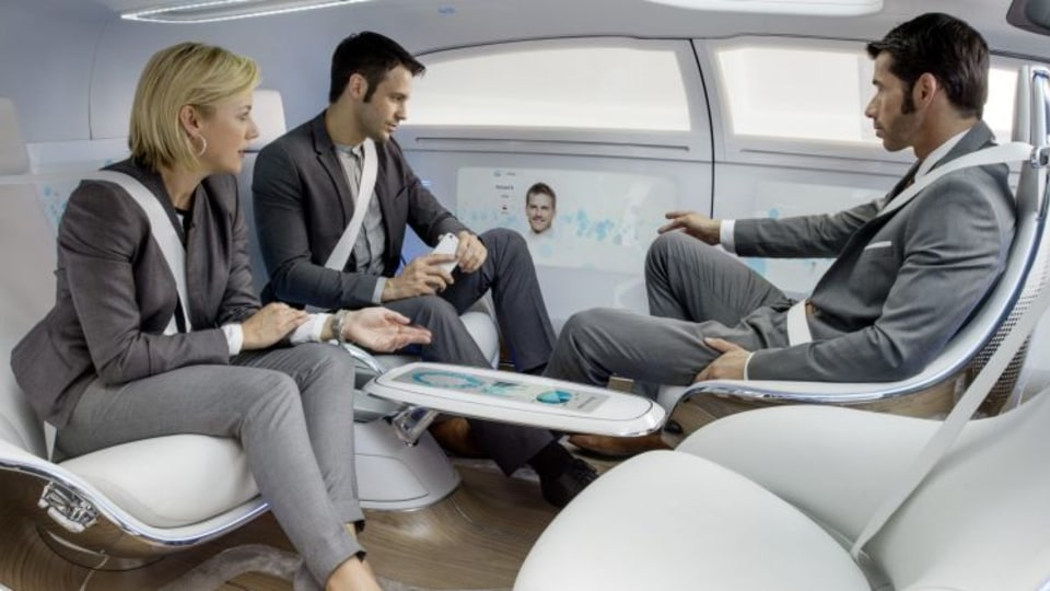 Government experts say driverless pod-like cars are on the horizon.