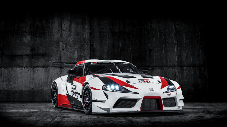 Toyota has unveiled a race-inspired concept version of its upcoming Supra coupe.