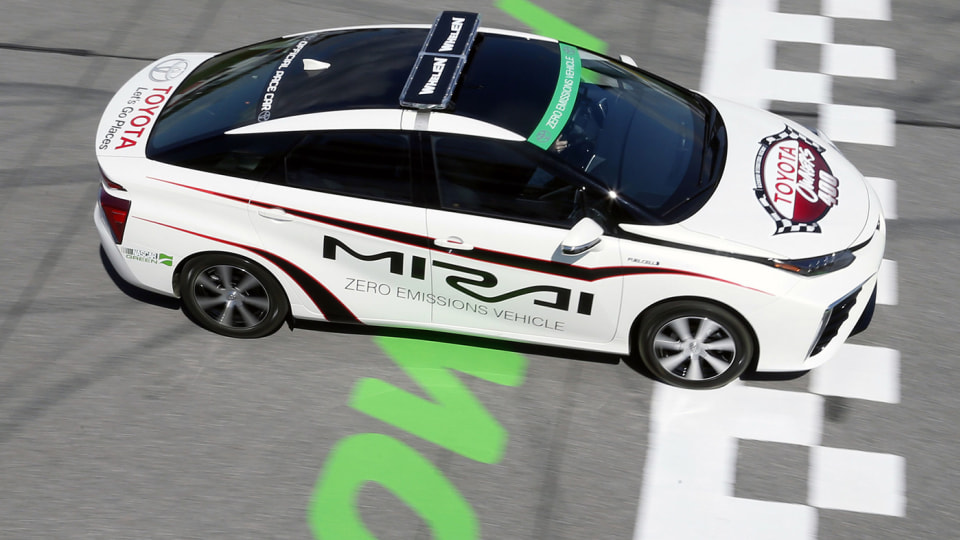 Toyota Mirai Gets Pace Colours On For NASCAR Racing Series