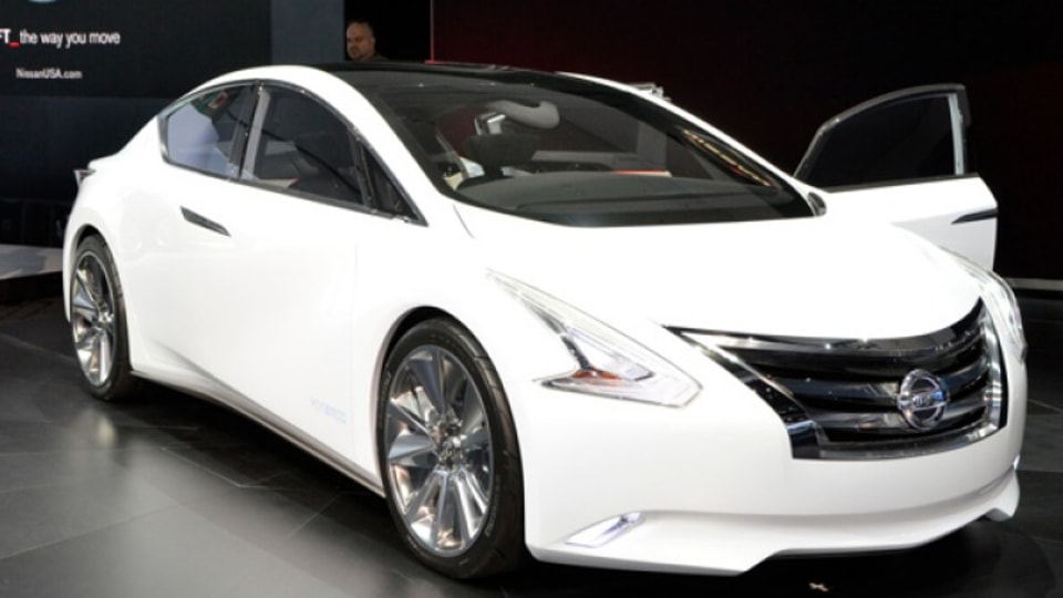 Nissan Ellure concept as seen at the Los Angeles motor show.