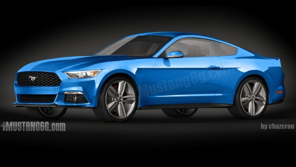 An artist's impression of the new Ford Mustang that will be sold in Australia. Source: Mustang6G.com